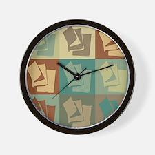 Reading Pop Art Wall Clock