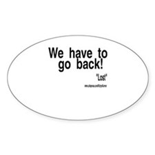 GO BACK Oval Decal