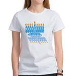 Blue Menorah Women's T-Shirt