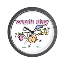 Wash Day Wall Clock