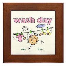 Wash Day Framed Tile