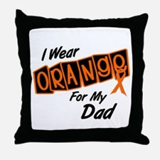 I Wear Orange For My Dad 8 Throw Pillow