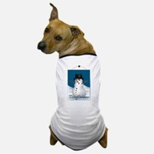 Merry Christmas Snowman Dog T-Shirt