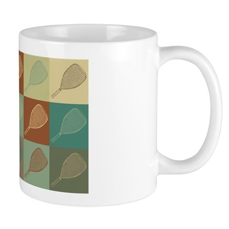 Racquetball Pop Art Mug