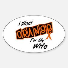 I Wear Orange For My Wife 8 Oval Decal