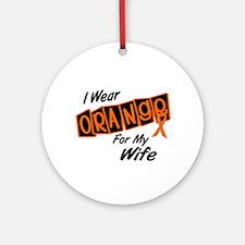 I Wear Orange For My Wife 8 Ornament (Round)