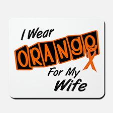 I Wear Orange For My Wife 8 Mousepad