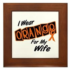 I Wear Orange For My Wife 8 Framed Tile