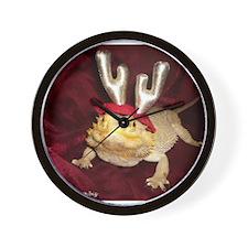 Reindeer Beardie Wall Clock