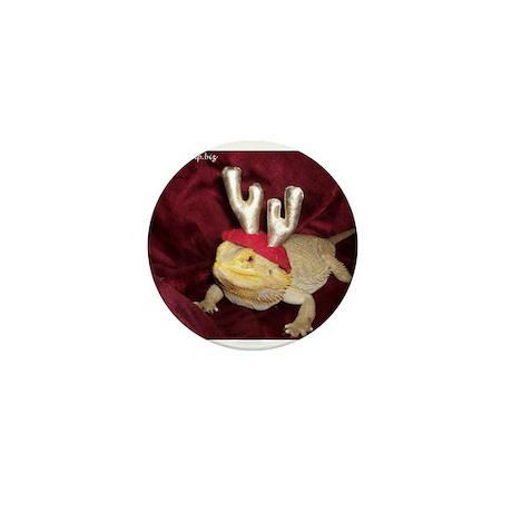 Reindeer Beardie 2 Mini Button (10 pack)