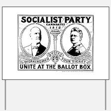 Vintage Eugene Debs Campaign Poster Yard Sign