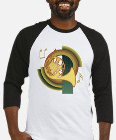 French Horn Deco Baseball Jersey