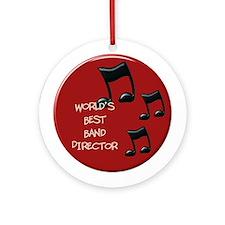 World's Best Band Director Ornament (Round)