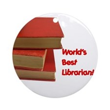 World's Best Librarian Ornament (Round)