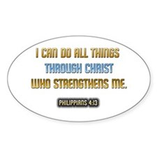 Christ Strengthens Me Oval Decal