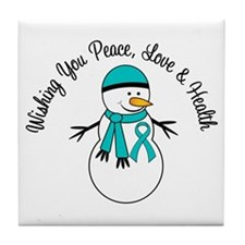 Christmas Snowman PCOS Tile Coaster