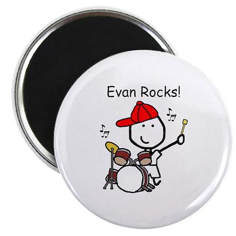 """Drum Set - Evan 2.25"""" Magnet (100 pack)"""