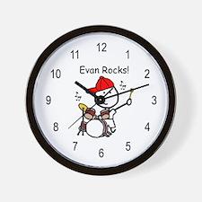 Drum Set - Evan Wall Clock