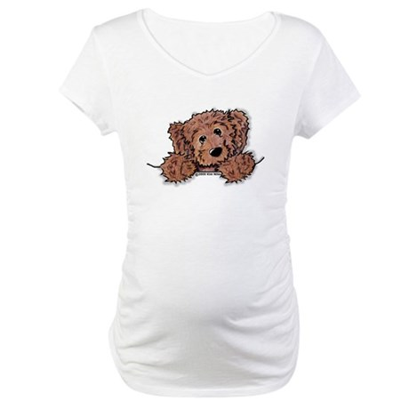 Choc. Doodle Pocket Pup Maternity T-Shirt