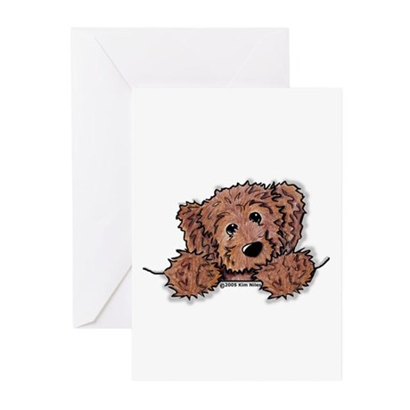 Choc. Doodle Pocket Pup Greeting Cards (Pk of 20)