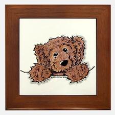Choc. Doodle Pocket Pup Framed Tile