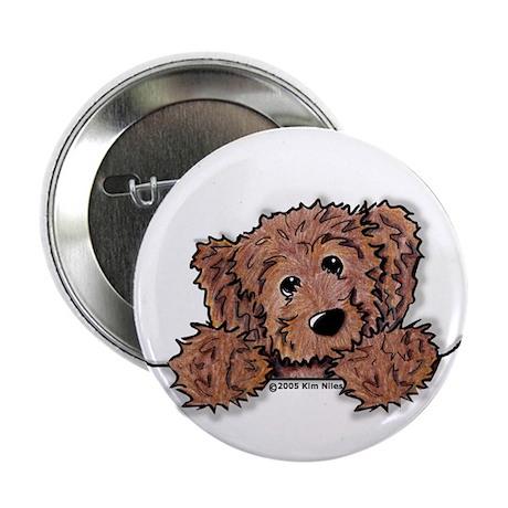 """Choc. Doodle Pocket Pup 2.25"""" Button (10 pack)"""