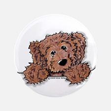 """Choc. Doodle Pocket Pup 3.5"""" Button"""