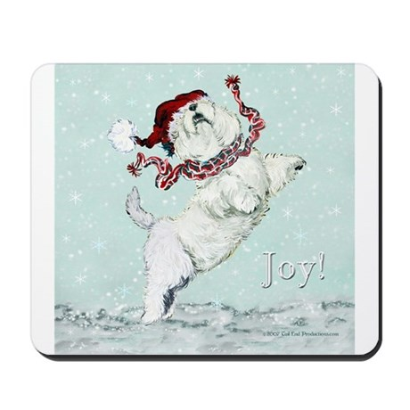 Westie Winter Terrier Mousepad