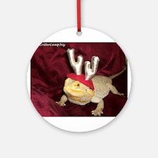 Reindeer Beardie 2 Ornament (Round)