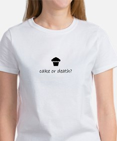 cake or death? women's t-shirt