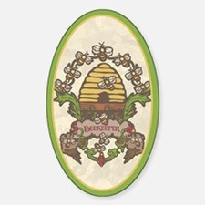 Beekeeper Crest Oval Decal