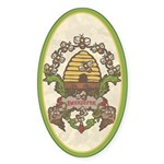 Beekeeper Crest Oval Sticker