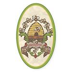 Beekeeper Crest Oval Sticker (50 pk)