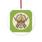 Beekeeper Crest Ornament (Round)