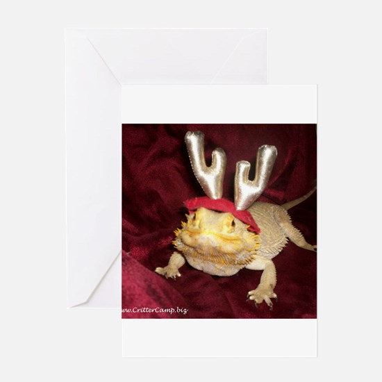 Reindeer Beardie Greeting Card