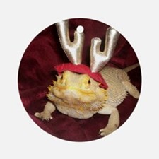 Reindeer Beardie Ornament (Round)