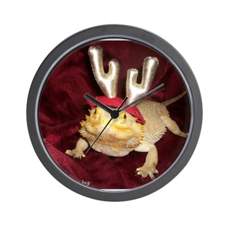 Reindeer Beardie Wall Clock
