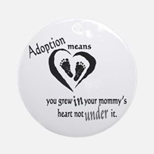 Born in mommy's heart Ornament (Round)