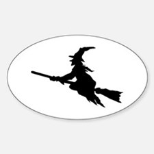 FLYING WITCHES Oval Decal