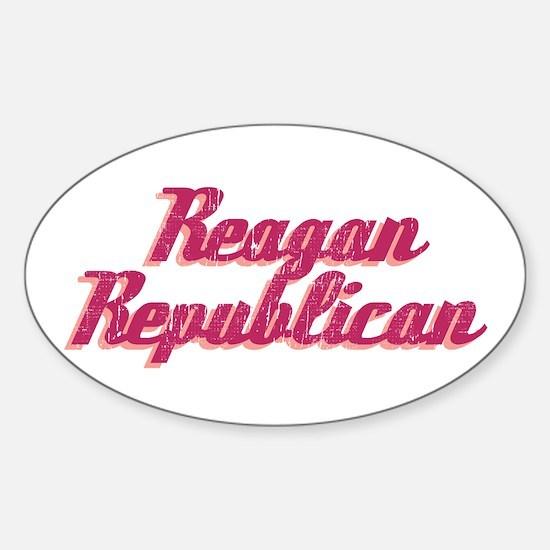 Reagan Republican (pink) Oval Decal