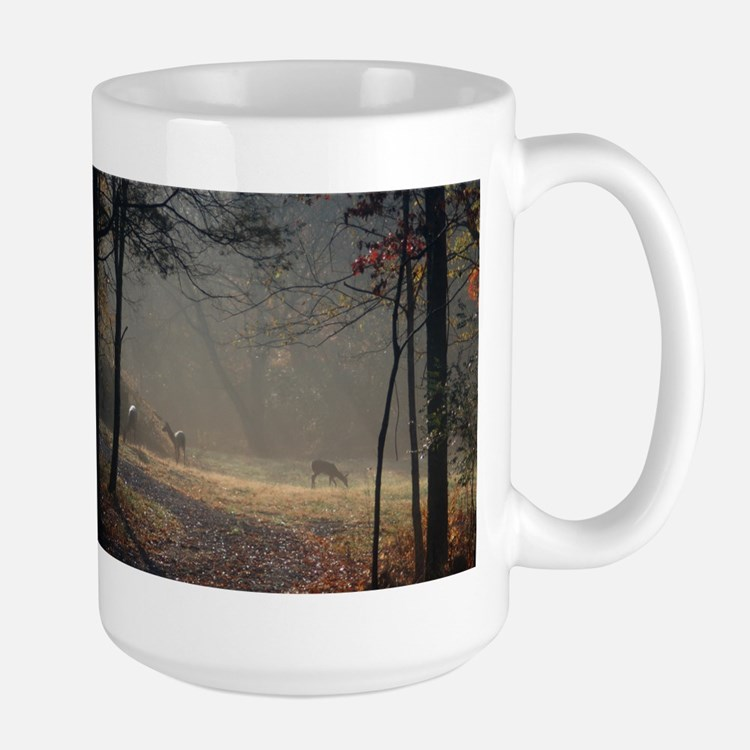 Deer at Sunrise Mugs