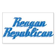 Reagan Republican (blue) Rectangle Decal