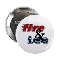 """Fire & Ice 2.25"""" Button"""