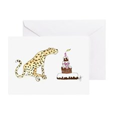 Cheetah Birthday Card
