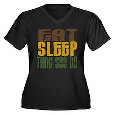 Eat Sleep Tang Soo Do Women's Plus Size V-Neck Dar