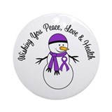 Alzheimers ornament Round Ornaments