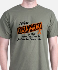 I Wear Orange To Be A Crayon Color 8 T-Shirt