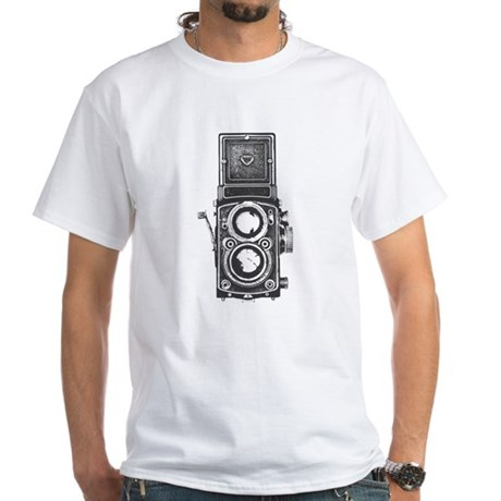 Twin Lens camera White T-Shirt
