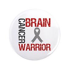 """BrainCancerWarrior 3.5"""" Button"""