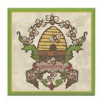 Beekeeper Crest Tile Coaster